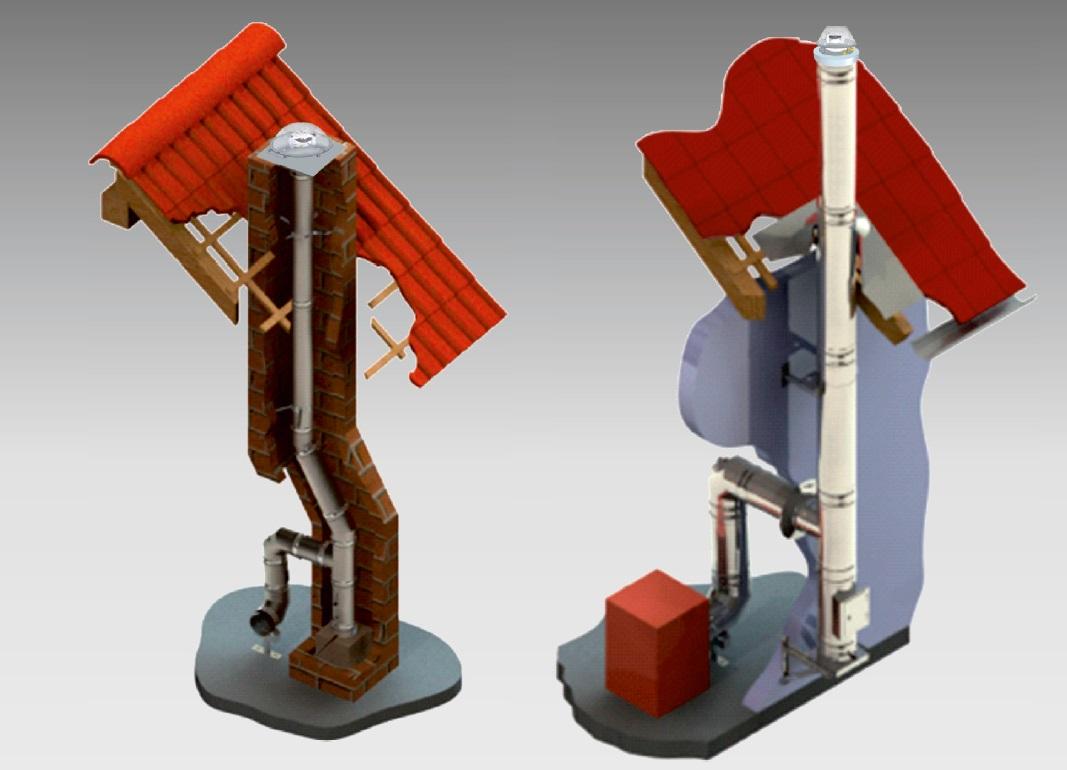 dimniški ventilator primer montaže